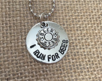 I Run For Beer Necklace