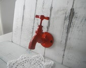 faucet hook tap hook red clothing hook rustic red hook bathroom decor rustic hook rustic decor farmhouse decor industrial decor modern decor