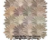 Brown Burlap Clip Art Digital Paper Flowers Clipart Worn Shabby Chic Coarse Texture DIY Scrapbooking Embellishments Instant Download
