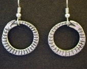 Sterling Silver Ouroboros Earrings on Heavy Sterling Silver French Wires