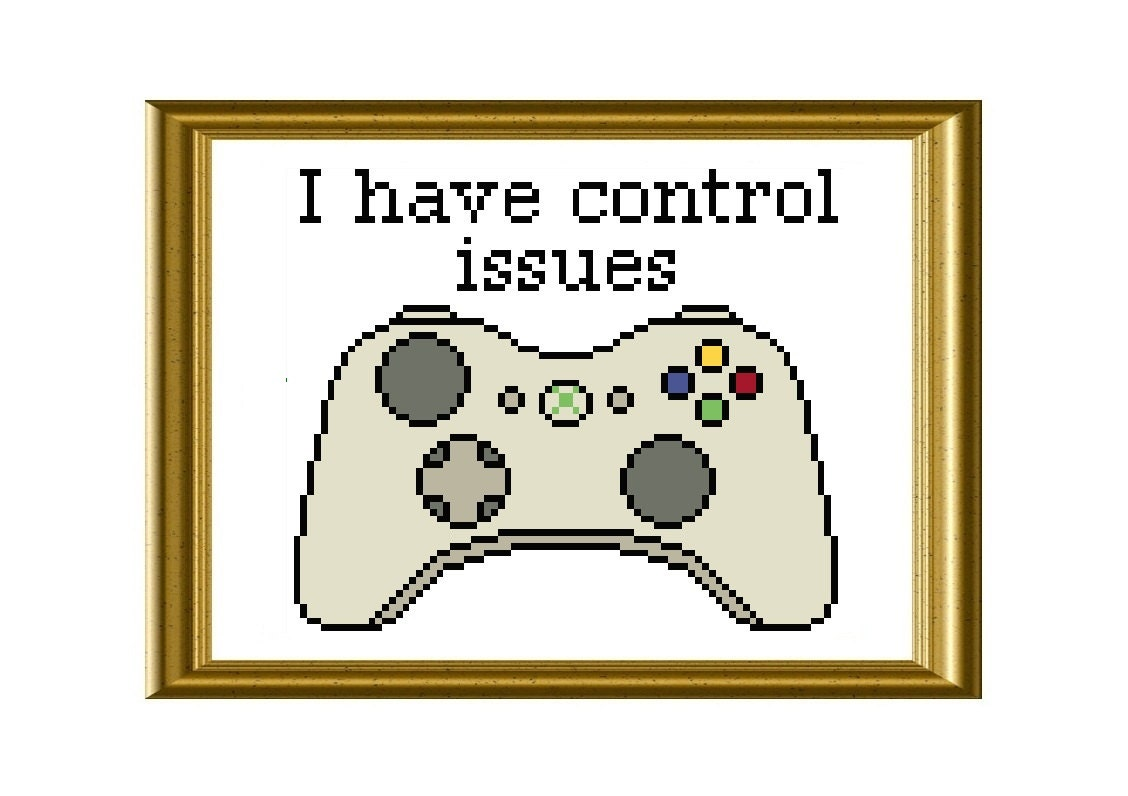 Xbox controller funny cross stitch pattern control issues