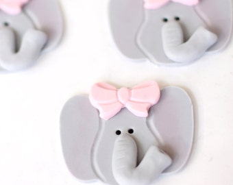 12  elephant Fondant toppers for cupcakes or cookies