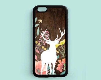 Deer in the Garden iPhone Case , Watercolor Flower Samsung Galaxy S6 S5 S4 S3, Note 3 4 Case, iPhone 7 6 6 Plus 5s  5c 4s Case ch49