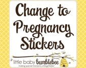 Pregnancy Stickers, Change Any Monthly Baby Sticker Set to Belly Stickers, Pregnancy Announcement, Weekly Stickers, Belly Stickers, Prop