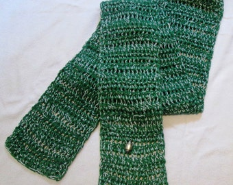 Fan Team Colors Sports Charm Crocheted Scarf