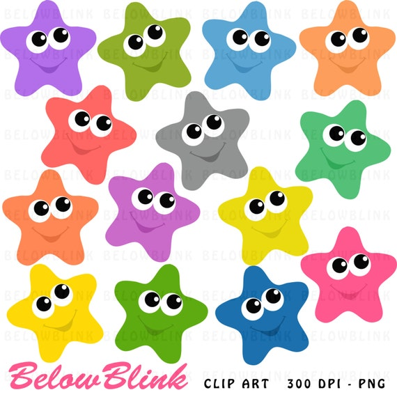 happy stars clipart clip art digital scrapbooking commercial use rh catchmyparty com