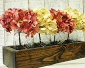 Mason jar box mason jars, rustic decor, mason jar centerpiece, rustic table centerpiece, wooden box, home decor, wedding centerpiece