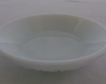 Vintage Milk Glass Bowl, Blue Gray Tint, Small Bowl