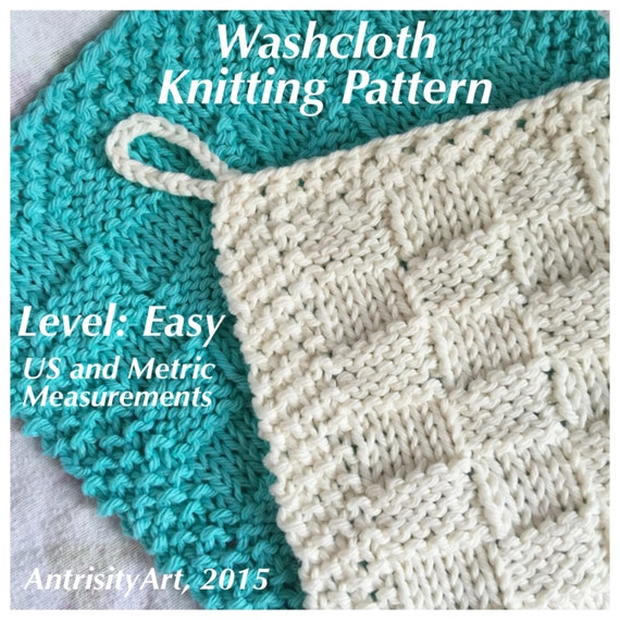 Knitted Wash Clothes Free Patterns : Knit Wash Cloth PDF Pattern
