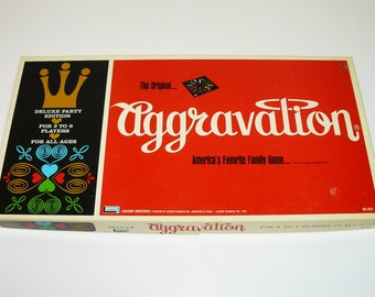 1970 DELUXE AGGRAVATION Game Lakeside No. 8321 - The Original Marble Game - Real Glass Marbles