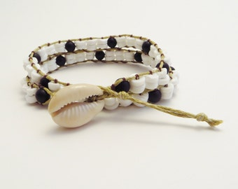 She Sells Seashells double wrap bracelet