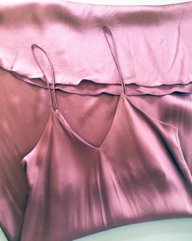 Vintage 1990S Plum Silk Slip Dress 90S Minimalist Slip Dress-9922