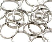 150 Split Rings 8mm Silver Tone H586