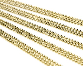 """100 Ball Chain Necklaces 28"""" Brass DIY Ball Chains Supply wholesale jewelry chain with Connectors H796x4"""