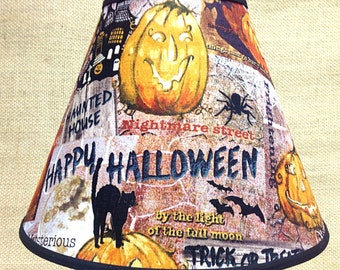Halloween Nightmare Street Jaunted House Jack O Lantern Lamp Shade