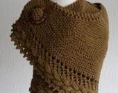 Cotton handknitted wrap / shawl / scarf