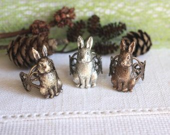Bunny  Ring - rabbit ring - hare ring - easter gift