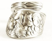 Cupid and Psyche, Sterling Silver Spoon Ring, Mother Child Ring, Baby Memrial Gift, Guardian Angel Ring, Baby in Heaven, Custom Ring Size
