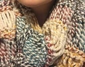 FALL-ow THE RAINBOW - Chunky Knit Multicolored Infinity Scarf