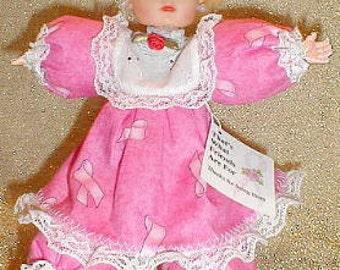 Abigail, OOAK cute Caucasian breast cancer awareness Pink Ribbon doll