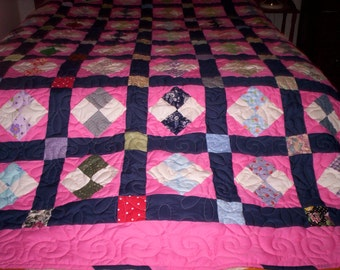 4-Patch Queen Quilt.... Sale  Priced....