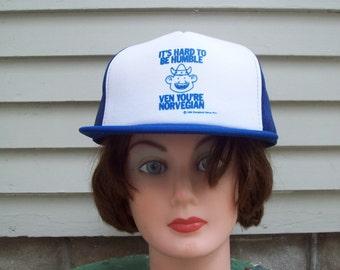 1980 Funny Norwegian Novelty Snapback Cap Retro Truckers Cap Viking Hat