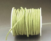 1 m green suede lace 2.5 x 1.2 mm green suede cord 2.5 mm green cord green lace green leather suede cord light green suede lace