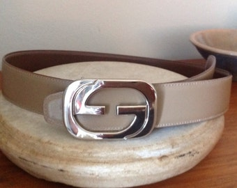 Authentic Gucci Tan Leather Belt Women's Size Small
