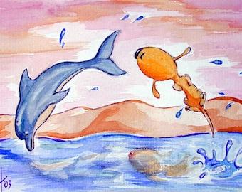 """Art Print """"Canis Porpoise"""""""