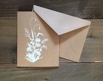 wildflower bouquet of alaskan wildflowers greeting card