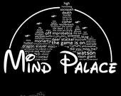 Mind Palace (white text) - A Sherlock / Disney mash up T-Shirt design