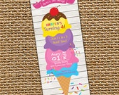Ice Cream Invitation, Ice Cream Birthday, Ice Cream Party, Ice Cream Social, Printable Invite, Ice Cream Theme, Girl Birthday, Boy Birthday