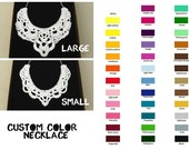 Small Crochet Necklace - Crochet Jewelry - Lace Crochet Collar - Choose your own COLORS!