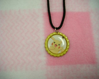Pikachu from Pokemon Inspired Bottle Cap Necklace