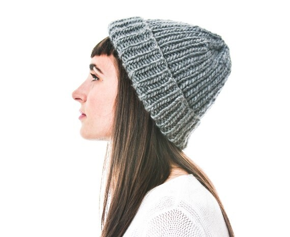 Ribbed Knit Beanie in Fair Trade Silk Alpaca Merino Wool Blend