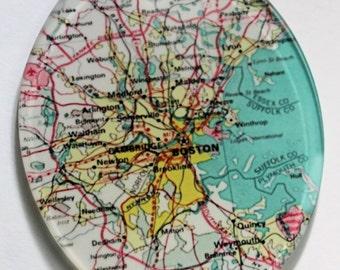 Boston Map Glass Ornament Housewarming Gift Custom Map