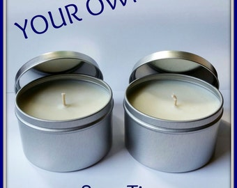 8 oz Choose YOUR OWN Scent! 100% Soy Candle. Hand Poured, Highly Fragranced, Eco Friendly, Vegan, Reusable Tin.