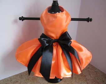 Dog Dress  XS Neon Orange  By Nina's Couture Closet Special order