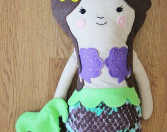 READY TO SHIP - Handmade Mermaid doll -Marina