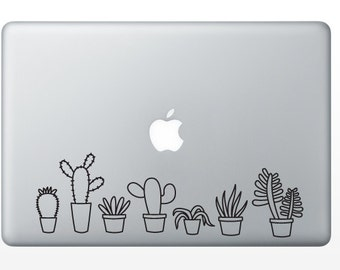 Succulents Decal - Cactus Decal - Succulent Sticker - Cactus Sticker - Dessert Decal - Gardening Decal - Indoor Garden - Air Plant