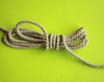 3 mm Linen Rope =1 Spool = 27 Yards = 25 Meters Natural Linen Twisted Cord - Decorative Rope
