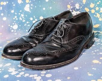 Black WINGTIP Dress Shoe Men's Size 12 M