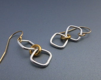 Geometric Earrings Mixed Metals Earrings