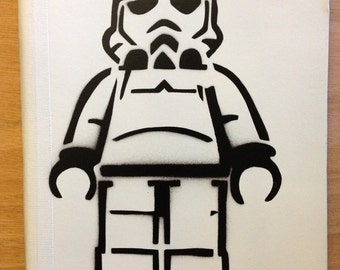 Lego Stormtrooper Notebook White