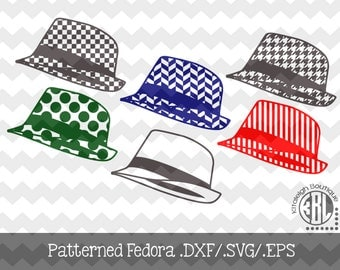 Patterned Fedora .DXF/.SVG/.EPS File for use with your Silhouette Studio Software