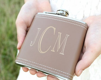 Whiskey Flask Groomsmen Gift Fathers Day Gift Engraved Leather Flask Gifts For Him #DownInTheBoondocks