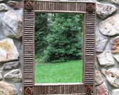Twig and Pine Cone Mirror