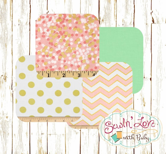 Pink Mint And Gold Nursery: Pink, Mint And Gold Baby Girl Bedding