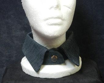 Dark Blue Denim Collar