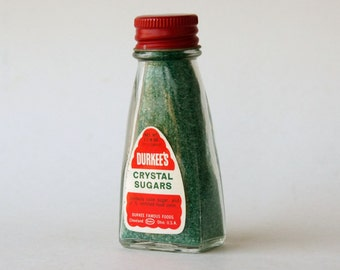 Cupcake Sprinkles Bottle, Durkee's Cake Decorations, New Old Stock, Green Kitchen Decor